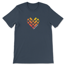 Front navy heart