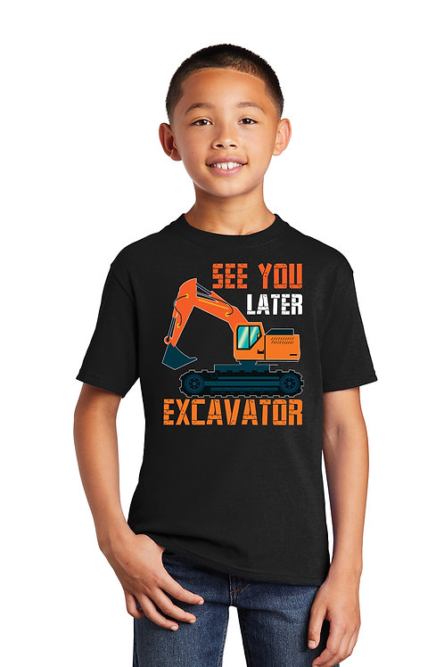 SEE YOU LATER EXCAVATOR - Kid Graphic T-Shirt