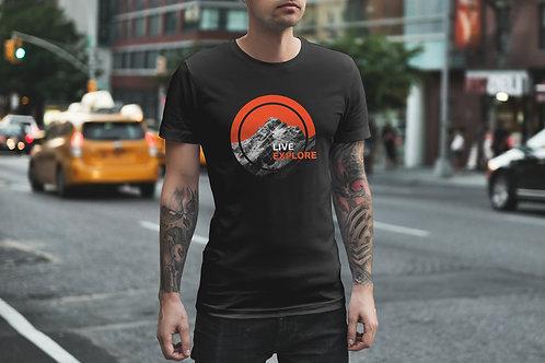 Live . Explore Circle Graphic T-Shirt