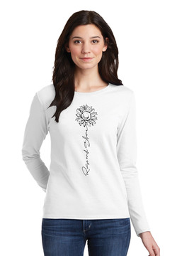 Rise and Shine white long sleeve