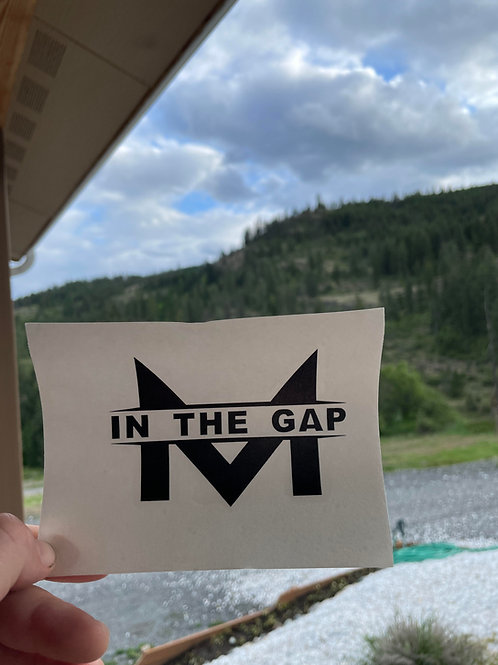 Men in the Gap Clear Stickers