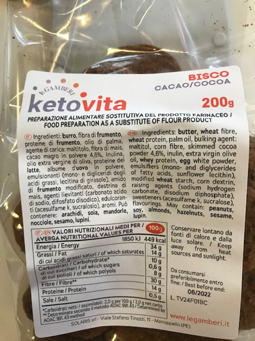 KETO VITA BISCO CHOCO - COOKIES              1:2 ratio (100gr fills as 200gr)