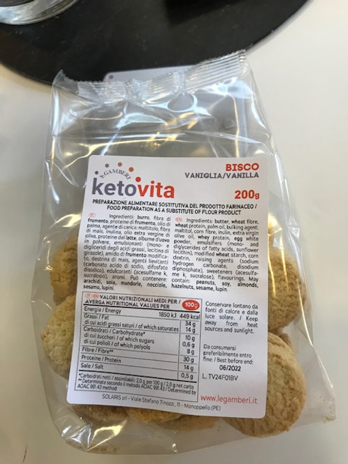 KETO VITA BISCO VANNILLA - COOKIES   1:2 ratio (100gr fills as 200gr)