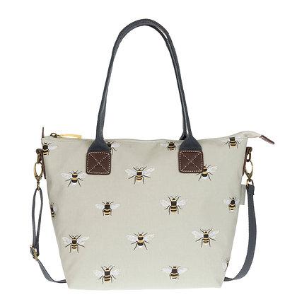 Bees Mini Oilcloth Oundle Bag