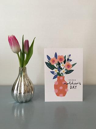 Spotty Vase & Flowers