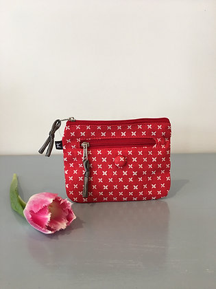 Red Spring Linen Emily Purse