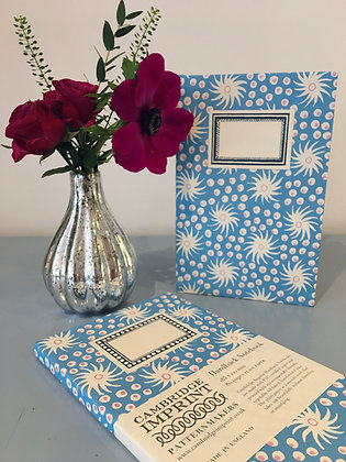 Hardback Notebook Milky Way Blue and Old Red