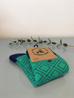 Green Diamond Bamboo Socks