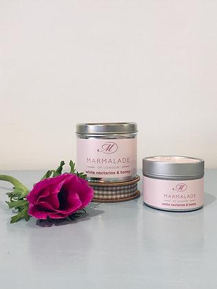 White Nectarine & Honey Meduim Candle Tin