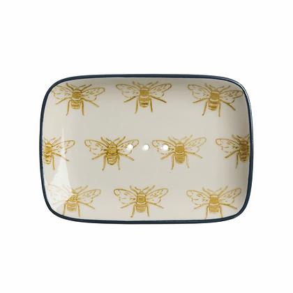 Bees Stoneware Soap Dish