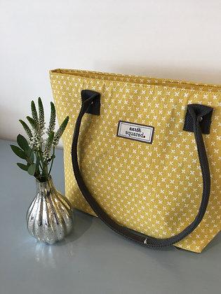 Yellow Spring Linen Tote Bag