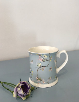 Blue Tit on Blossom Mug