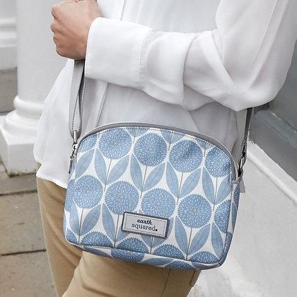 Cornflower Blue Oil Cloth Halfmoon Bag