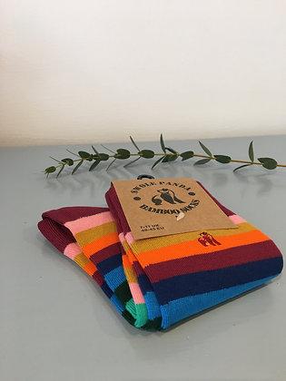 Multi Fine Striped Bamboo Socks