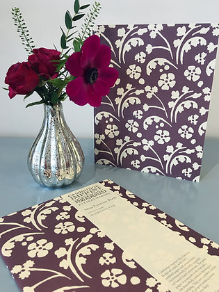 Exercise Book Wild Flowers Violet