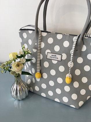 Grey Spotty Tote Bag