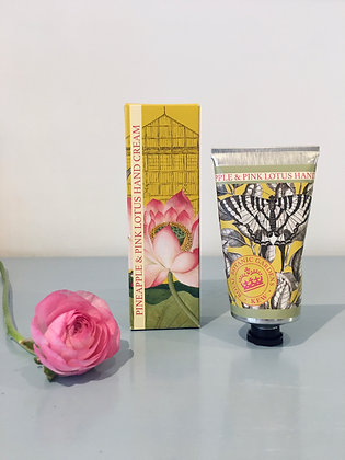 Kew Gardens Pineapple and Pink Lotus Hand Cream
