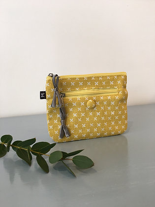 Yellow Spring Linen Emily Purse