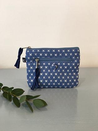 Blue Spring Linen Emily Purse