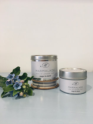Sage & Elemi Small Candle Tin
