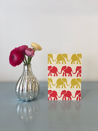 Elephants Red and Yellow