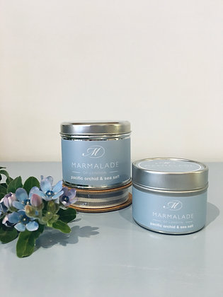 Pacific Orchid & Sea Salt Meduim Candle Tin