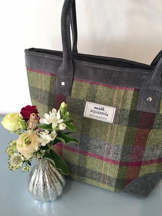 Stone Moss Tweed Tote Bag