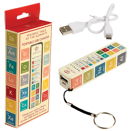 Periodic Table Usb Portable Charger