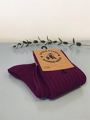 Deep Purple Bamboo Socks
