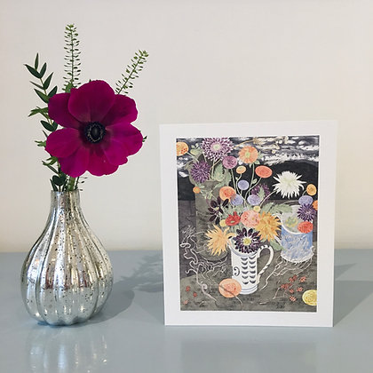 Dahlias In A No. 19 Jug