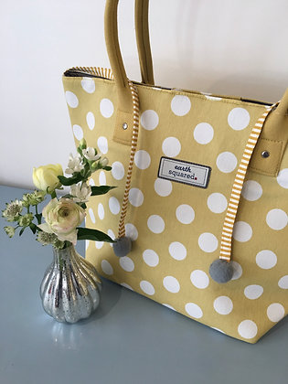 Yellow Spotty Tote Bag