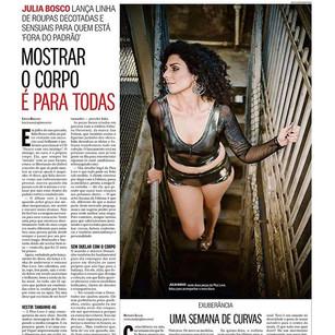 Matéria do Caderno Ela de Moda do Jornal