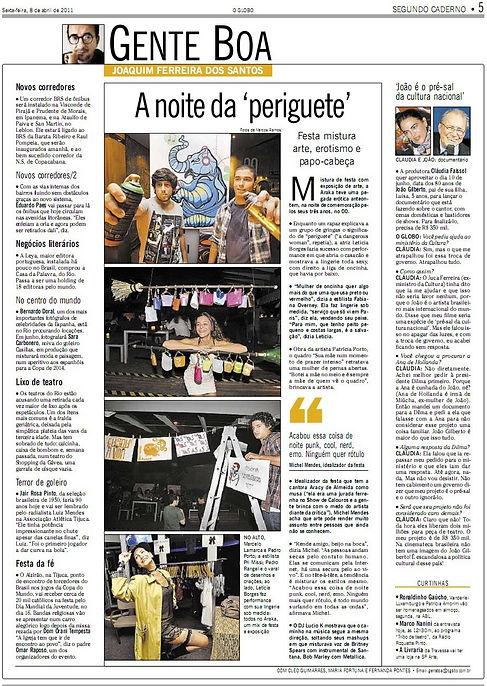 Ana Fulana Atelier no Jornal O Globo