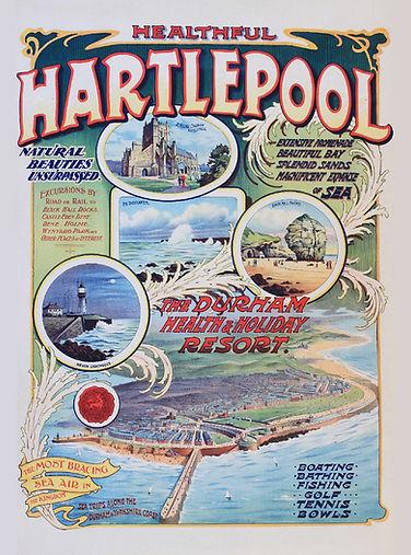 Healthful Hartlepool Vintage Poster rgb.