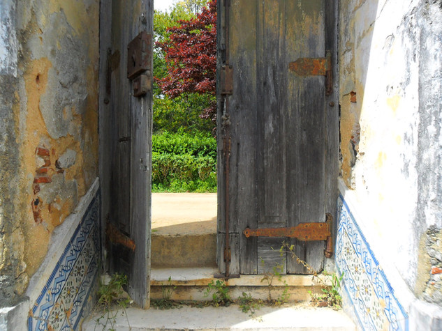 Old door into gardens