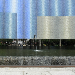 Mosiac & water - Lisboa Park of Nations.