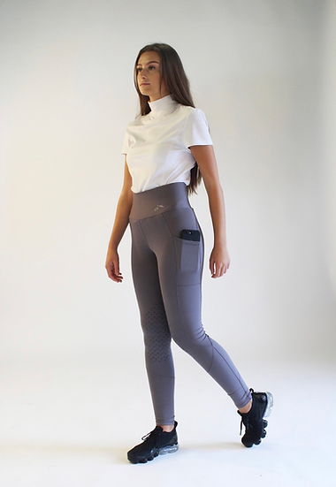 White Gallop Riding Leggings