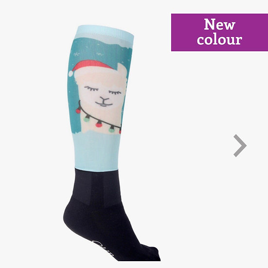 Alpaca Christmas Socks