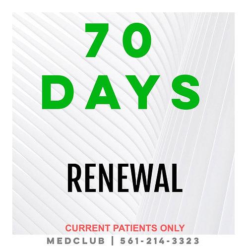 70 Day Certificate Renewal