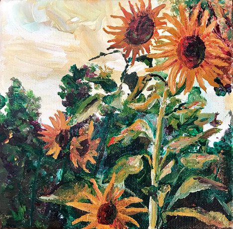 6x6x1.5 Acrylic on Canvas