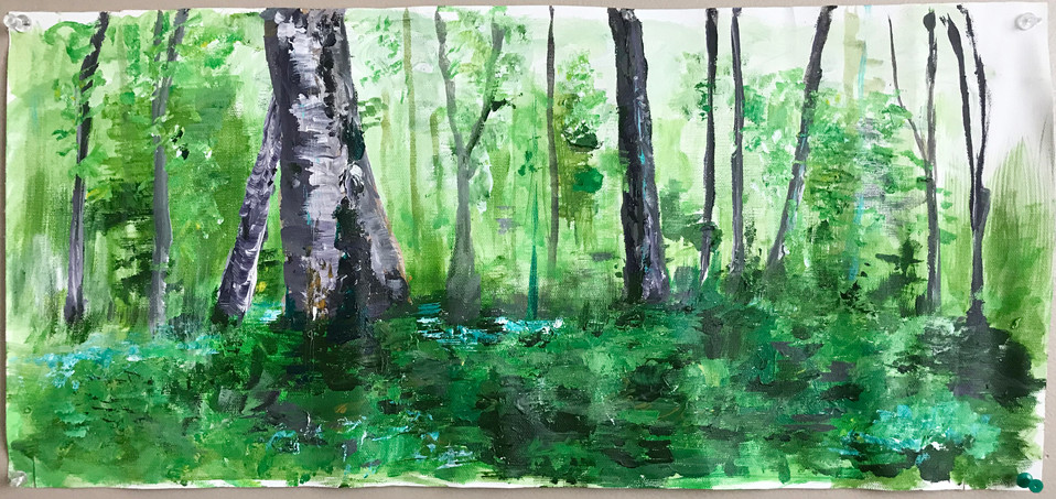 """18 x 24"""" acryllic study on canvas"""