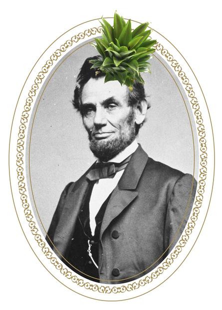 ¡El Presidente Lincoln puso una piña en la cabeza! He looks like one badass hombre.