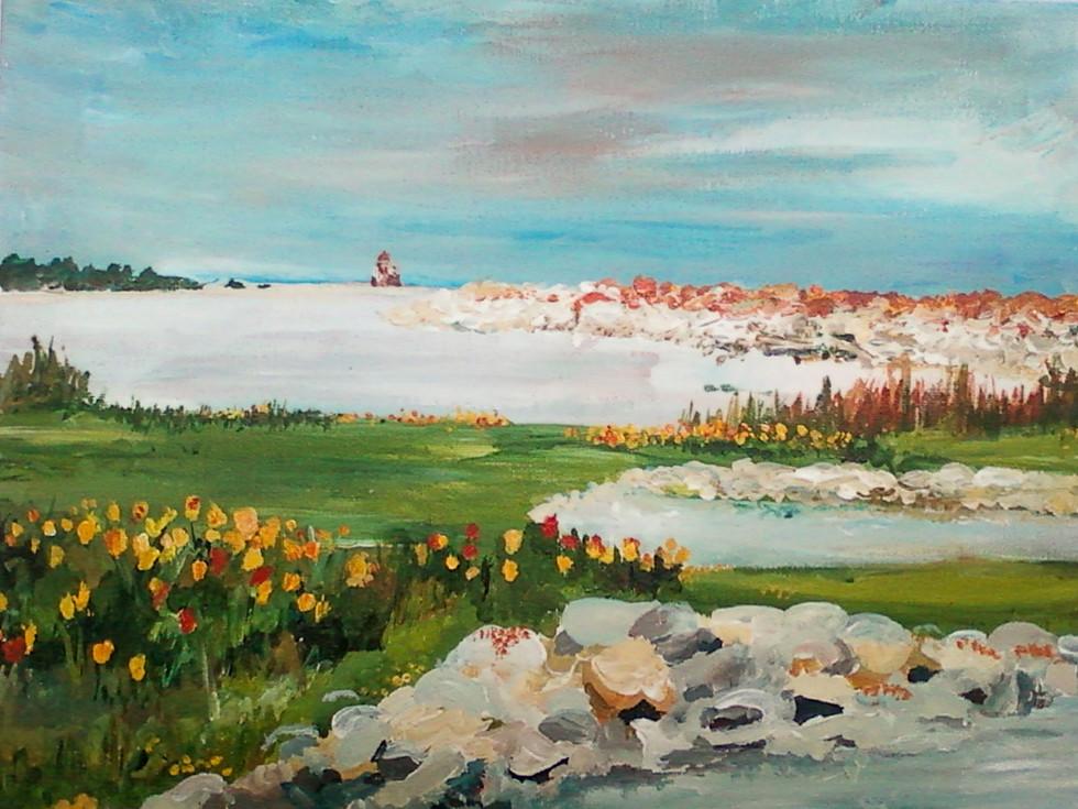 """11 x 14"""" acrylic on canvas"""