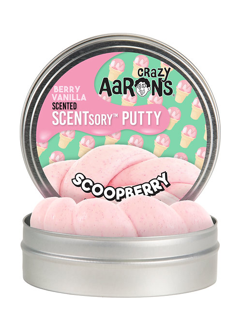 SCOOPBERRY - Strawberry & Vanilla Scented Putty - Medium Small Tin