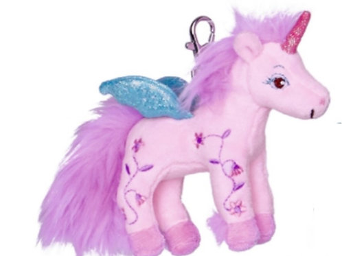 Pink Plush Unicorn Key Chain by Spiegelburg Toys