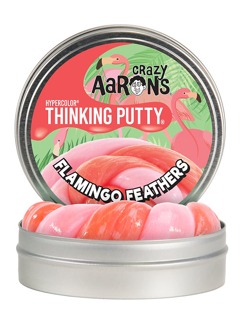 FLAMINGO FEATHERS - Color Changing Thinking Putty - Large Tin
