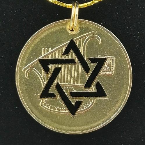 Star of David Half Shekel Pendant