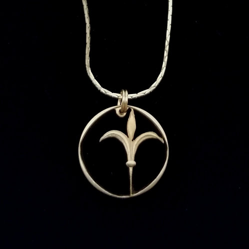 One Shekel Lily Pendant