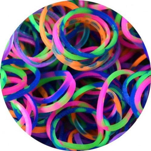 Tie Dye 600 Rubber Bands