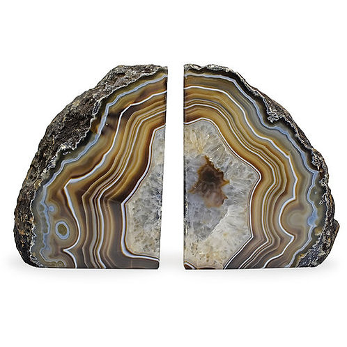 Natural Agate Bookends